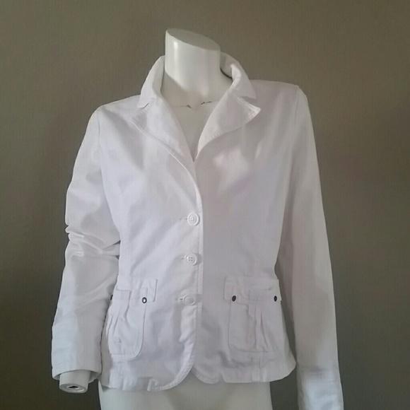 db6cd8f1e82 ambition Jackets   Blazers - Ambition white denim jean jacket Blazer coat sm
